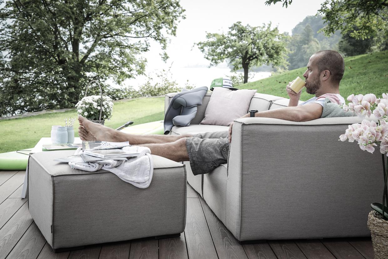 Outdoor Stoff Garten Lounge Wetterfest